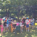 Crowd at facepainting and balloons 2